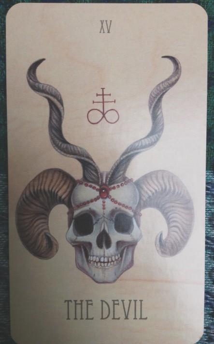 Diabeł Wooden Tarot
